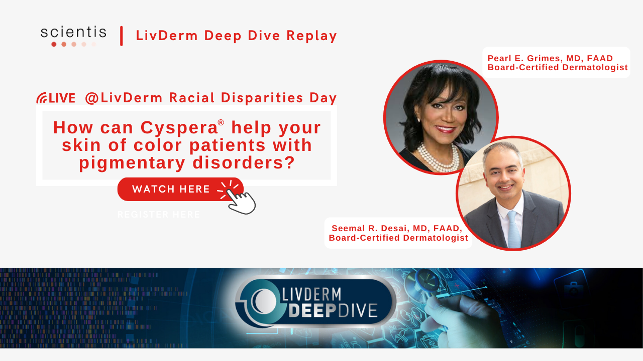 How Cyspera help your skin of color patients with pigmentary disorder ?